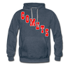 Clinton Comets Logo Hoodie (Premium) - heather denim