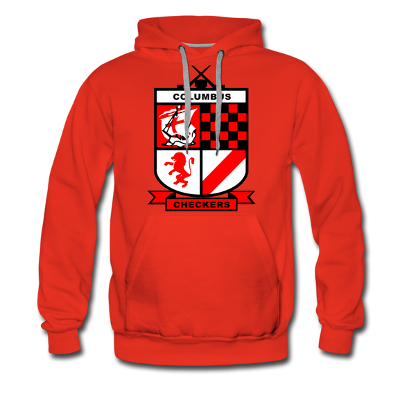 Columbus Checkers Hoodie (Premium) - red