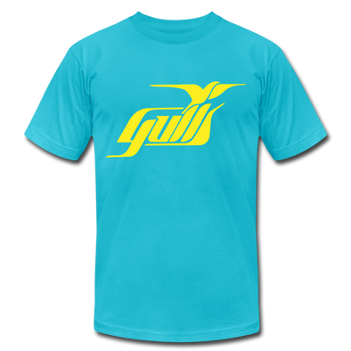 Hampton Gulls Yellow Design T-Shirt (Premium) - turquoise