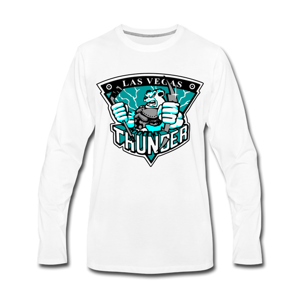 Las Vegas Thunder Boom Boom The Bear Long Sleeve T-Shirt (Premium) - white