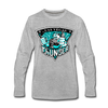 Las Vegas Thunder Boom Boom The Bear Long Sleeve T-Shirt (Premium) - heather gray