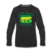 Long Island Cougars Distressed Long Sleeve T-Shirt (Premium) - black
