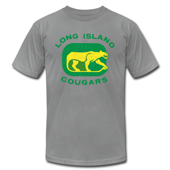 Long Island Cougars Distressed T-Shirt (Premium) - slate