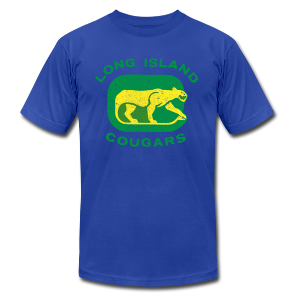 Long Island Cougars Distressed T-Shirt (Premium) - royal blue