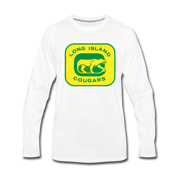 Long Island Cougars Long Sleeve T-Shirt (Premium) - white