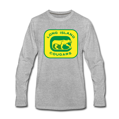 Long Island Cougars Long Sleeve T-Shirt (Premium) - heather gray