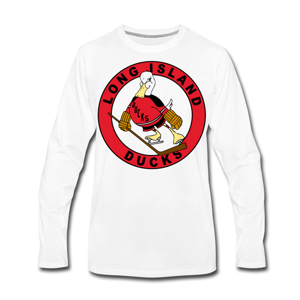 Long Island Ducks 1970s Long Sleeve T-Shirt (Premium) - white