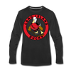 Long Island Ducks 1970s Long Sleeve T-Shirt (Premium) - black
