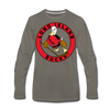 Long Island Ducks 1970s Long Sleeve T-Shirt (Premium) - asphalt gray