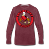 Long Island Ducks 1970s Long Sleeve T-Shirt (Premium) - heather burgundy