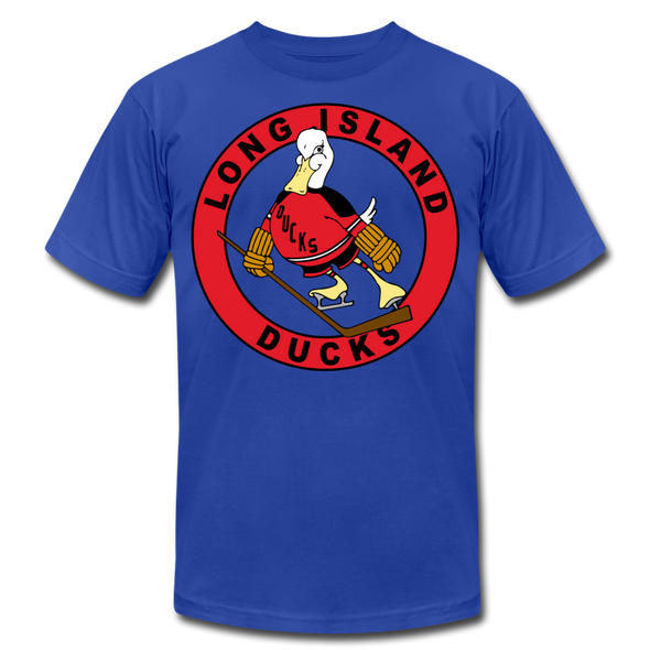Long Island Ducks 1970s T-Shirt (Premium) - royal blue