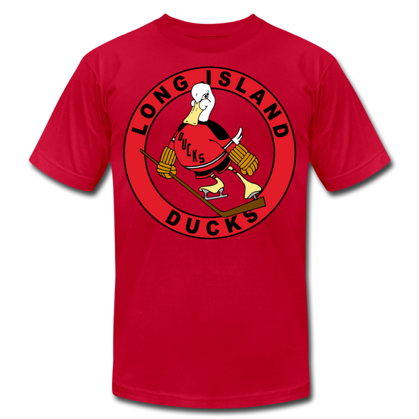 Long Island Ducks 1970s T-Shirt (Premium) - red