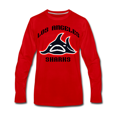 Los Angeles Sharks Long Sleeve T-Shirt (Premium) - red