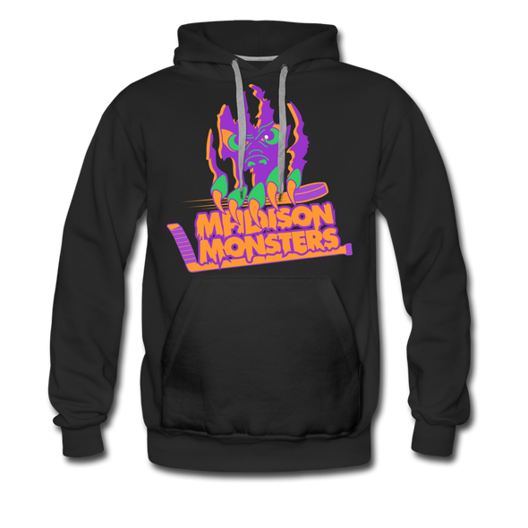 Madison Monsters Halloween Hoodie (Premium) - black