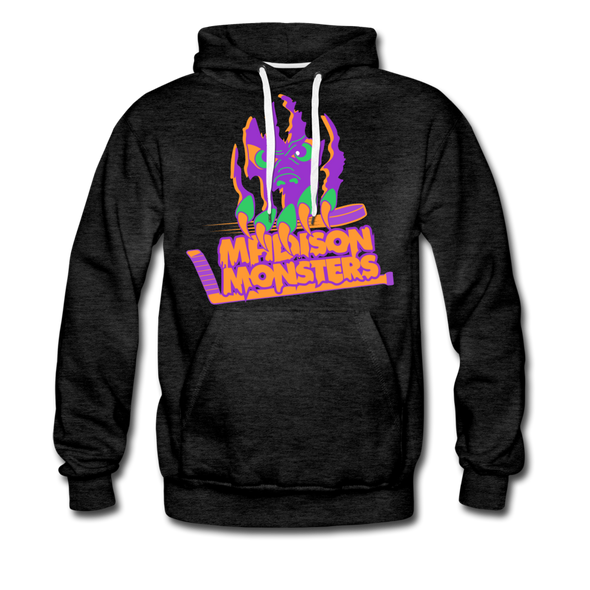 Madison Monsters Halloween Hoodie (Premium) - charcoal gray
