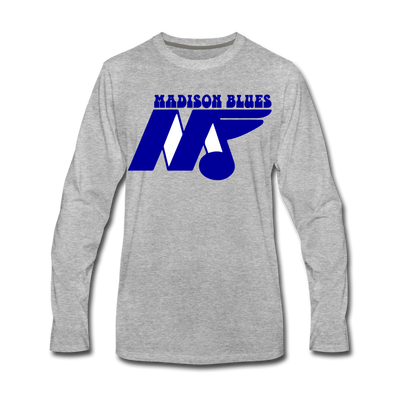 Madison Blues Long Sleeve T-Shirt (Premium) - heather gray