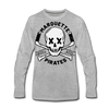 Marquette Pirates Light Long Sleeve T-Shirt (Premium) - heather gray