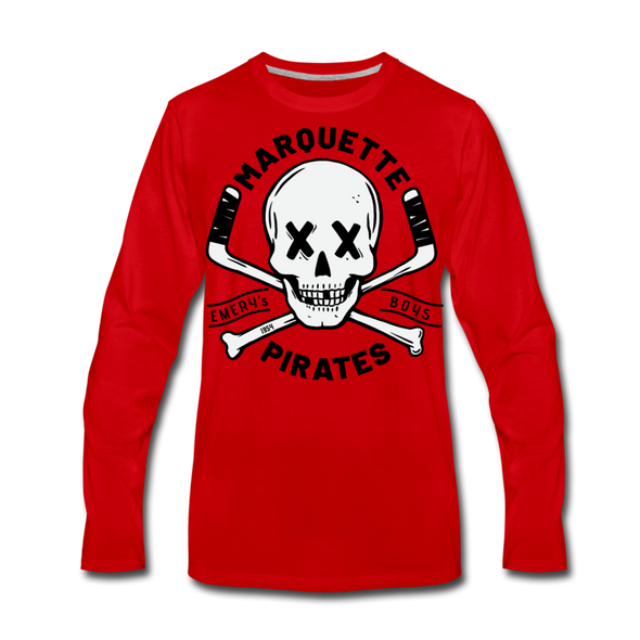 Marquette Pirates Light Long Sleeve T-Shirt (Premium) - red