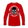 Marquette Pirates Dark Long Sleeve T-Shirt (Premium) - red