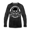 Marquette Pirates Dark Long Sleeve T-Shirt (Premium) - charcoal gray