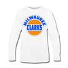 Milwaukee Clarks Long Sleeve T-Shirt (Premium) - white