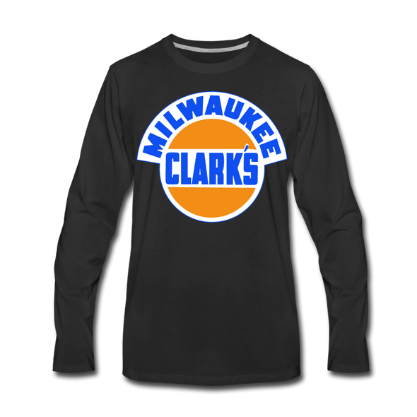 Milwaukee Clarks Long Sleeve T-Shirt (Premium) - black