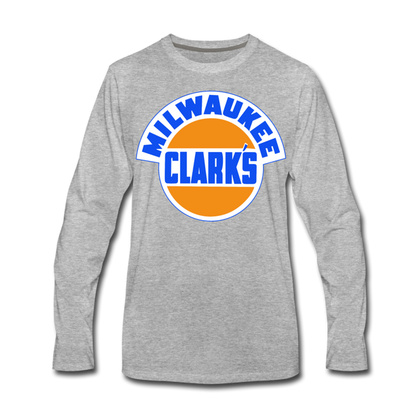 Milwaukee Clarks Long Sleeve T-Shirt (Premium) - heather gray