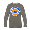 Milwaukee Clarks Long Sleeve T-Shirt (Premium) - asphalt gray