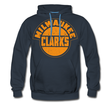 Milwaukee Clarks Distressed Hoodie (Premium) - navy