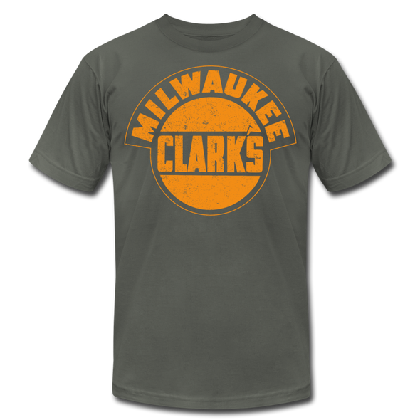 Milwaukee Clarks Distressed T-Shirt (Premium) - asphalt