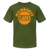 Milwaukee Clarks Distressed T-Shirt (Premium) - olive