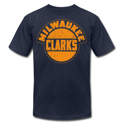Milwaukee Clarks Distressed T-Shirt (Premium) - navy