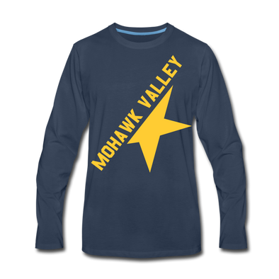 Mohawk Valley Stars Long Sleeve T-Shirt (Premium) - navy