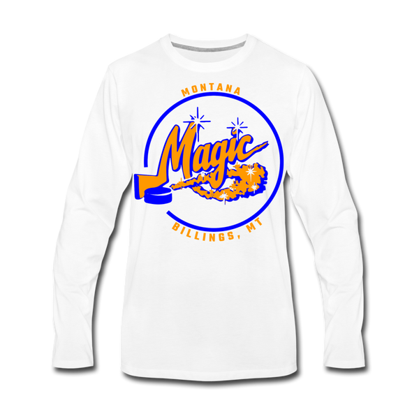 Montana Magic Long Sleeve T-Shirt (Premium) - white