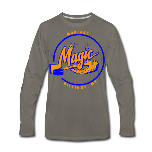 Montana Magic Long Sleeve T-Shirt (Premium) - asphalt gray