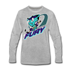 Muskegon Fury Long Sleeve T-Shirt (Premium) - heather gray