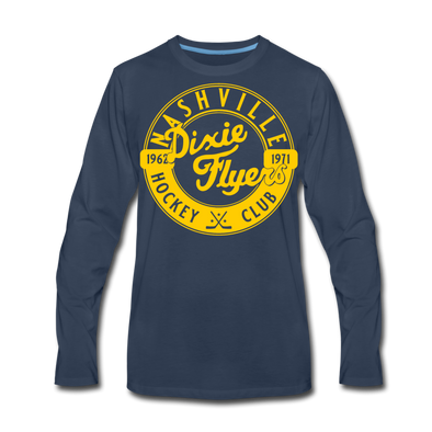 Nashville Dixie Flyers Circular Dated Long Sleeve T-Shirt (Premium) - navy
