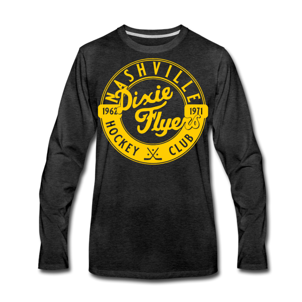 Nashville Dixie Flyers Circular Dated Long Sleeve T-Shirt (Premium) - charcoal gray