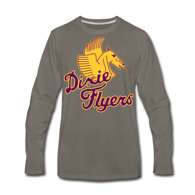 Nashville Dixie Flyers Pegasus Long Sleeve T-Shirt (Premium) - asphalt gray