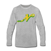 Nashville South Stars 'N' Long Sleeve T-Shirt (Premium) - heather gray