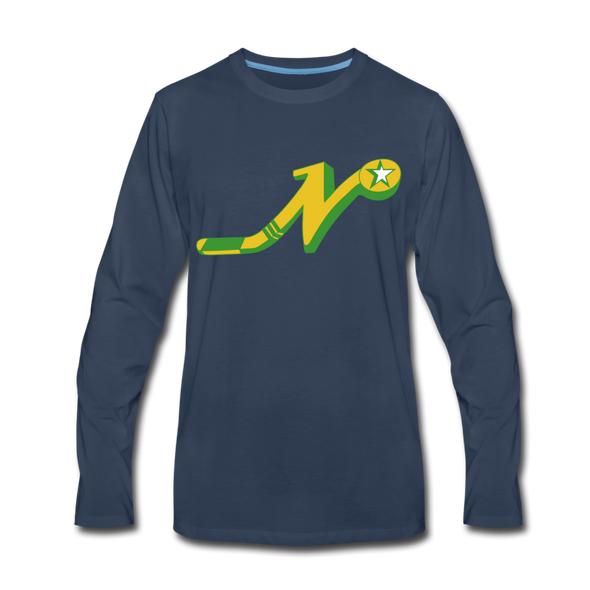 Nashville South Stars 'N' Long Sleeve T-Shirt (Premium) - navy
