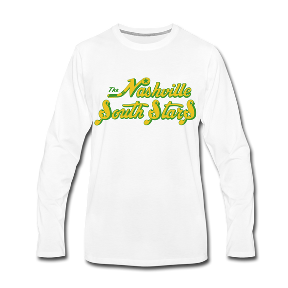 Nashville South Stars Text Long Sleeve T-Shirt - white