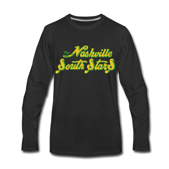 Nashville South Stars Text Long Sleeve T-Shirt - black