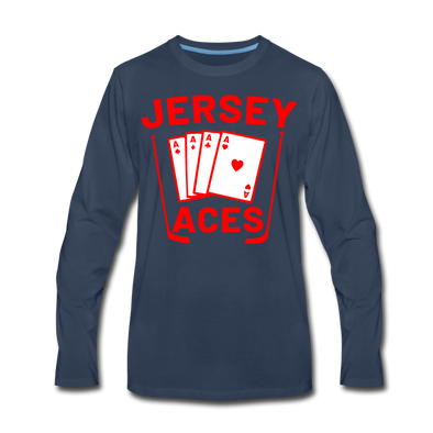 Jersey Aces Long Sleeve T-Shirt (Premium) - navy