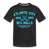 Atlantic City Sea Gulls Dated Kids' T-Shirt - black