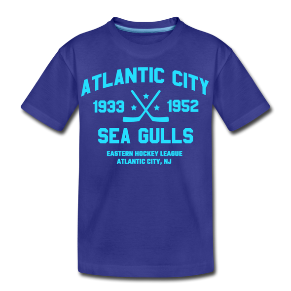 Atlantic City Sea Gulls Dated Kids' T-Shirt - royal blue