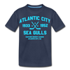 Atlantic City Sea Gulls Dated Kids' T-Shirt - navy