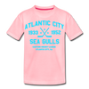 Atlantic City Sea Gulls Dated Kids' T-Shirt - pink