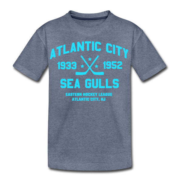 Atlantic City Sea Gulls Dated Kids' T-Shirt - heather blue