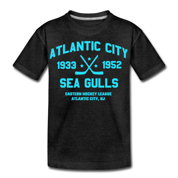 Atlantic City Sea Gulls Dated Kids' T-Shirt - charcoal gray
